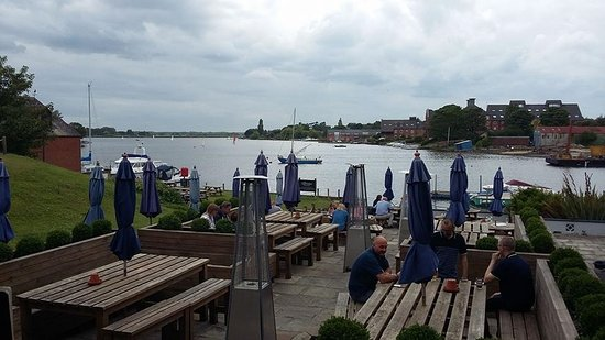 Oulton Broad, UK: View from the downstairs restaurant area