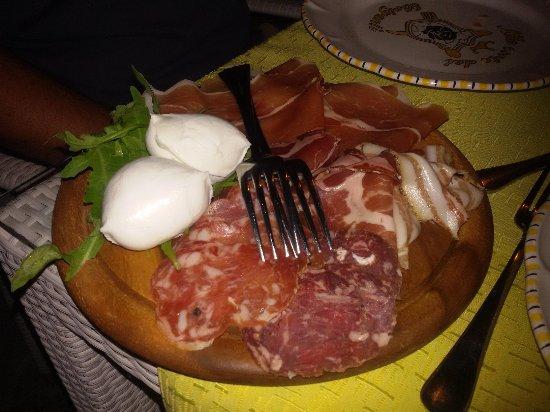 Sieti di Giffoni Sei Casali, Italia: antipasto