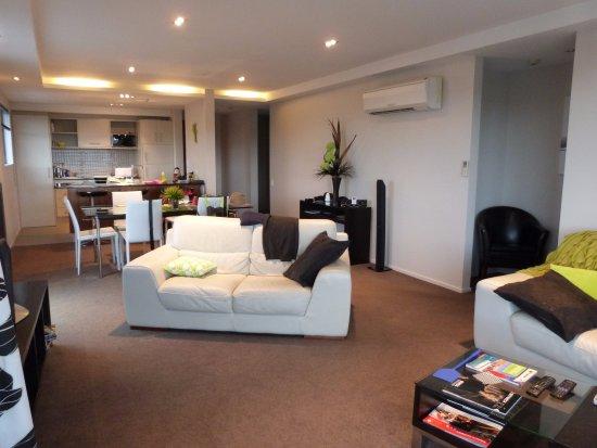 Focus Motel & Executive Suites: Open plan lounge kitchen/diner