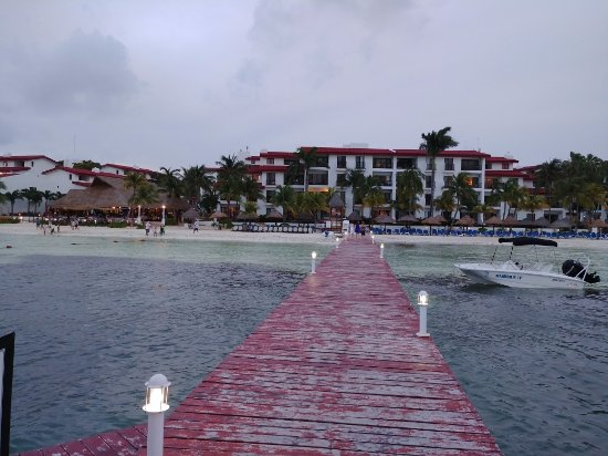 The Royal Cancun All Suites Resort: View from the dock at the back side of the property