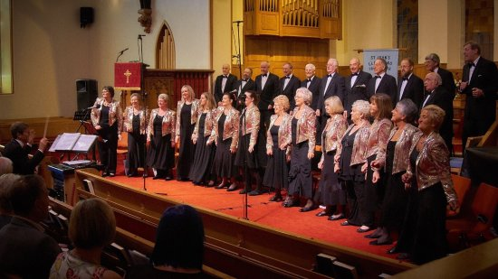 St. John's Methodist Church: The Harmony Singers perform every Monday night until 18th Sept 2017.  Varied repertoire. Tickets