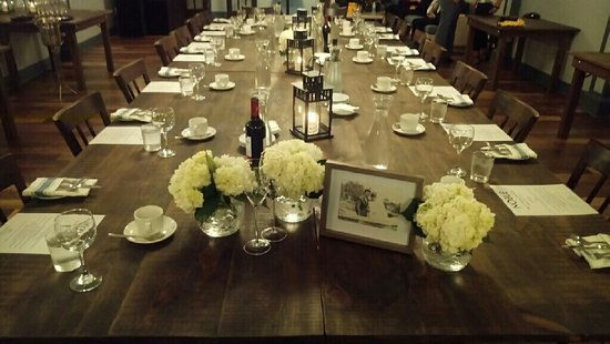 Noble Bistro Oakville: Wonderful job setting up the Kings Table...we loved it!