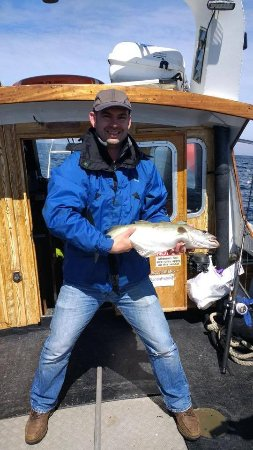 Beaumaris, UK: Successful day's fishing aboard the Starida II