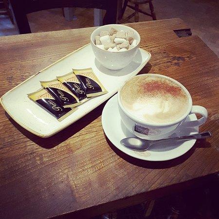 The Wheatsheaf at Oaksey: Cornish Coffee served at The Wheatsheaf Inn