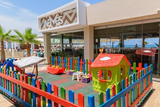 Kids Playground Picture Of Waves Restaurant Platanias