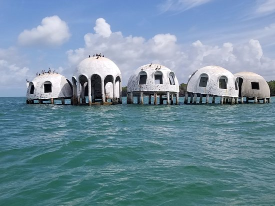 green water boat tours really cool dome houses