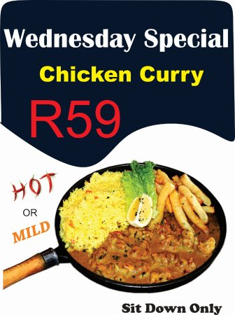 Kempton Park, South Africa: We have a delicious home made peri-peri sauce or this dish can be served mild