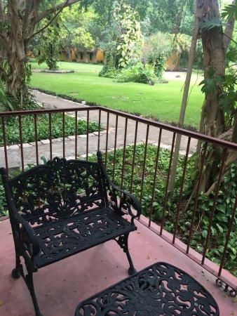Hotel Hacienda Merida: Terraza privada