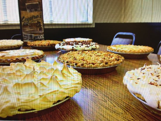 Sauk City, WI: Great variety of pies to choose from!