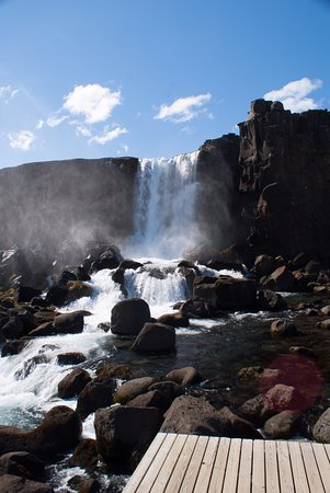 Thingvellir, Islândia: The waterfall
