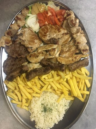 Turanj, Croatia: Meat platter for 2 persons