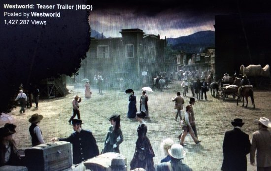Newhall, Californien: Still from Westworld filmed partially at Melody Ranch.