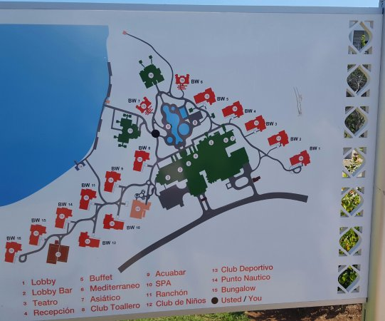 Map of resort Picture of Iberostar Playa Pilar Cayo Guillermo