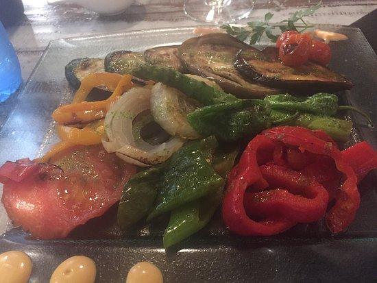 Biescas, Ισπανία: Vegetables à la plancha