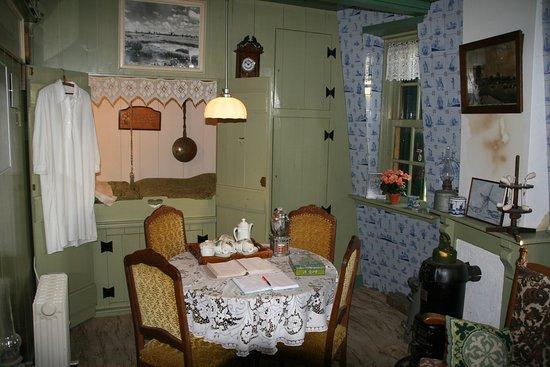 Schipluiden, Nederland: De gereconstrueerde huiskamer in de Groeneveldse Molen
