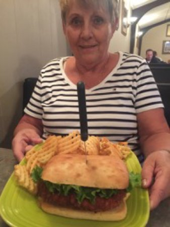 Spencer, IA: Breaded pork tenderloin on a hoagie roll