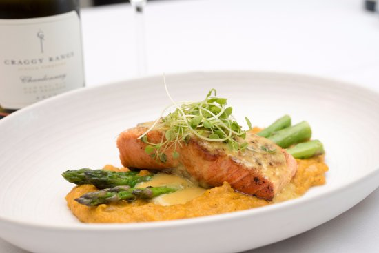 MIA Dining: Pine nut crusted Ora King Salmon