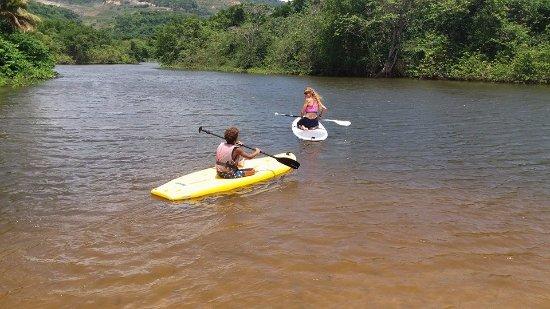 Deshaies, Guadeloupe: le départ ! paddle pour enfants disponibles ! gilets de sécurité ! le top !!