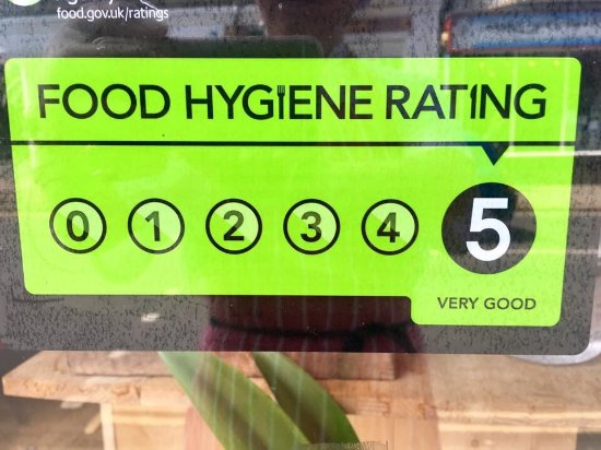 Another 5 Stars Rating On Food Hygiene At Bann Thai Cromer