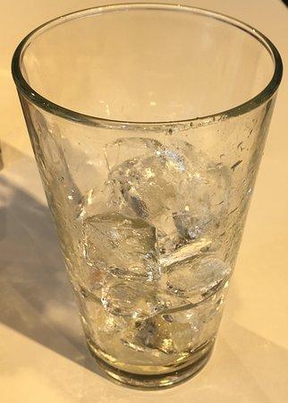 Akron, OH: Empty Ice Tea Glass