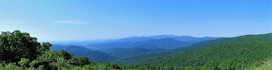 View along Skyline Drive