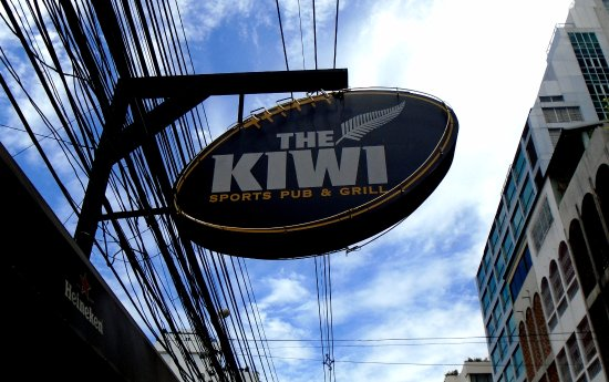 The Kiwi Sport Pub & Grill: Kiwi sign