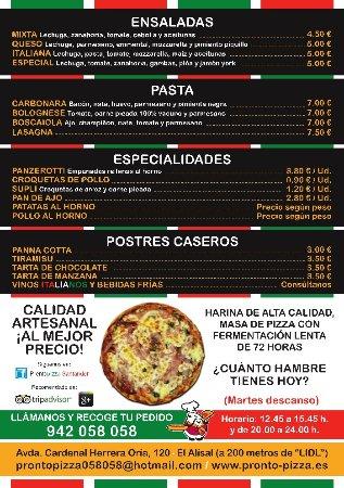 imagen Pronto Pizza en Santander