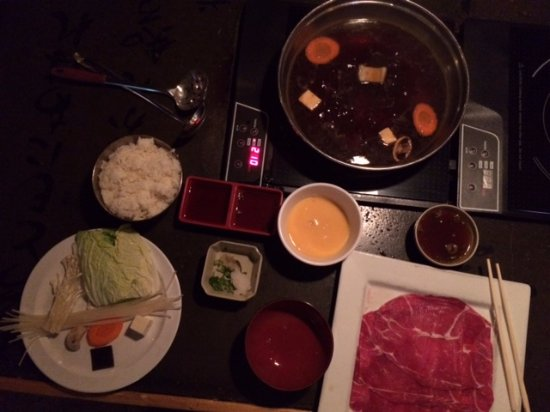 Tokyo Pot: Pot, with all the sides and selected meats.