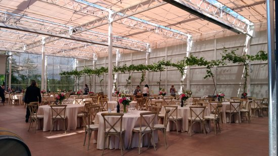 Glass house estate winery large hall for private functions