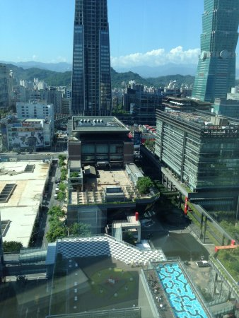 Humble House Taipei Hotel Swimming Pool And View Of The Ping Malls From Room