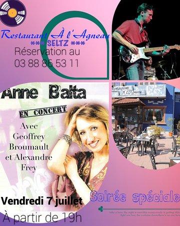Seltz, France : Fête d'été au Restaurant à l'Agneau!!!