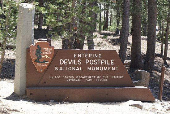 Devils Postpile National Monument: Eingangsschild