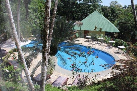 Tabulia Tree Hotel & Villas: Aussicht aus dem Zimmer auf den Pool