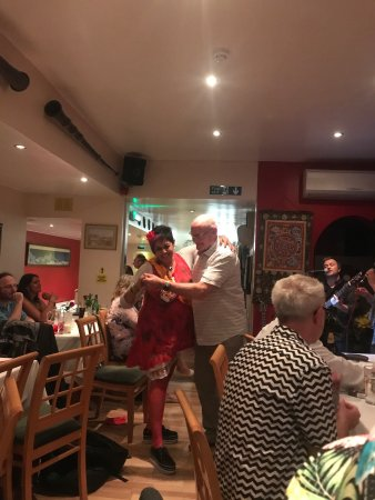Gurkha Durbar: Wonderful place to have a party!  Great food, space for a small band and great food, lovely happ