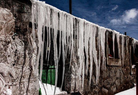 Las Cuevas, Argentina: Cuando el frio aprieta ....