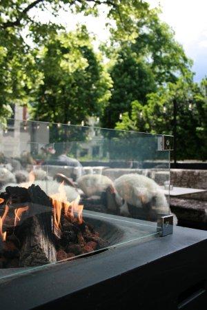 Olivia Hegdehaugsveien : Olivi Hegdehaugsveien outside fireplace