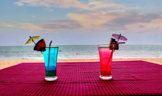 Anjuna, India: Ocean View from the Restaurant