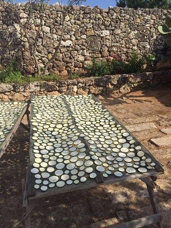Masseria Le Stanzie: drogen van de aubergines