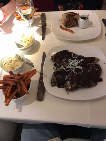 Epping, UK: This here is the ribs, lovely it was!
