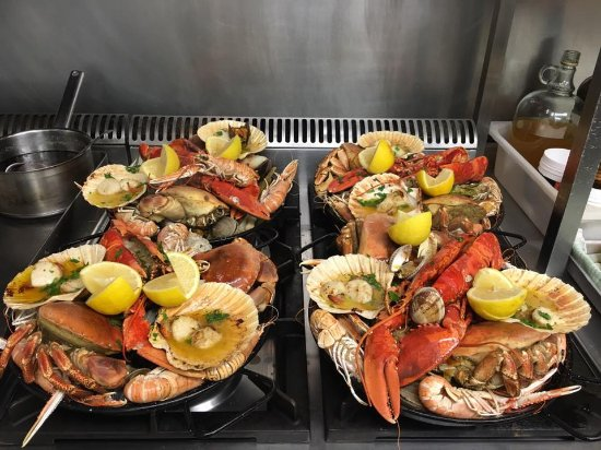 LochLeven Seafood Cafe : Shellfish platters - when one just won't do.