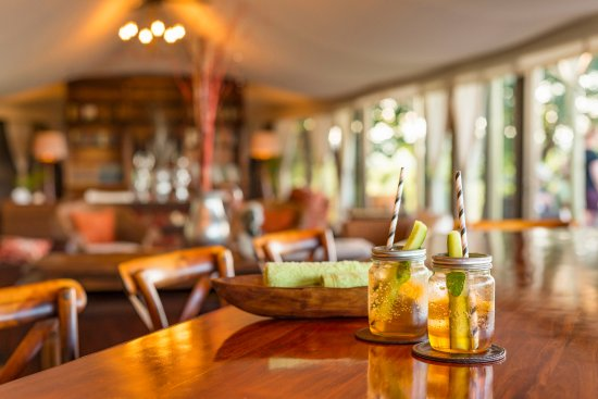 The Elephant Camp: Enjoy a refreshing welcome drink upon arrival