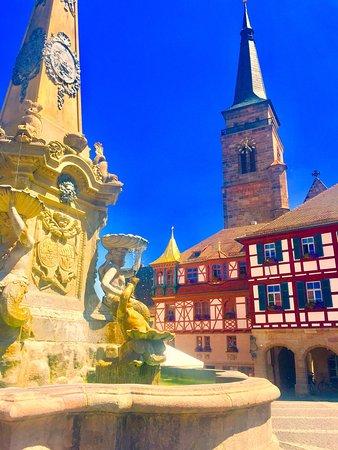 Schwabach, Deutschland: Schöner Fachwerkbau