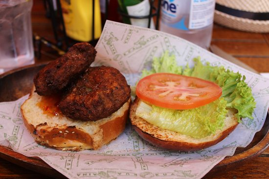 Kua 'Aina - Carnaby Street: Burger végétarien.