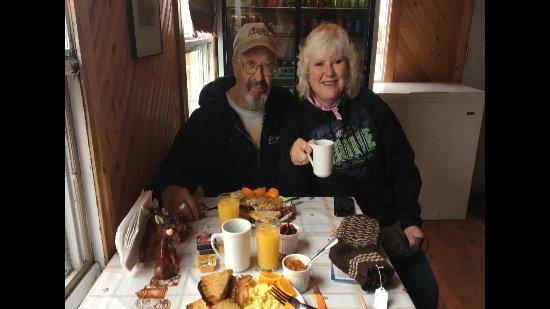 Quirpon Island, แคนาดา: Breakfast at Viking RV!