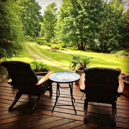 Gabriola Island, Kanada: A view from the front Porch of Hummingbird Lodge