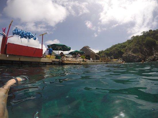 Tiki Hut Snorkel Park : What a tranquil setting.