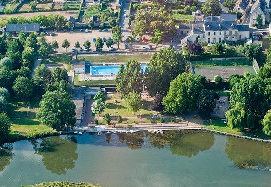 Luche-Pringe, France: Vue aérienne du camping de la Chabotière