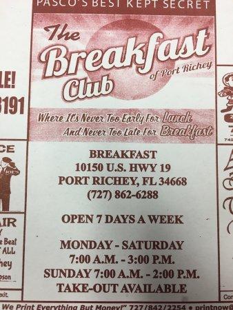 Port Richey, FL: Breakfast Club