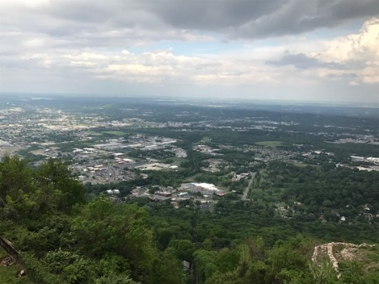 The Lookout Mountain Incline Railway: View from observation deck at top of mountain.