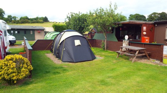 Lundin Links, UK: Camping corral (pitch 16)